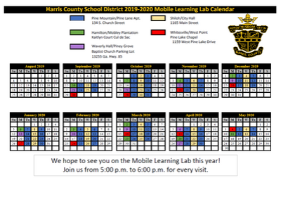Mobile Learning Lab Schedule 19-20