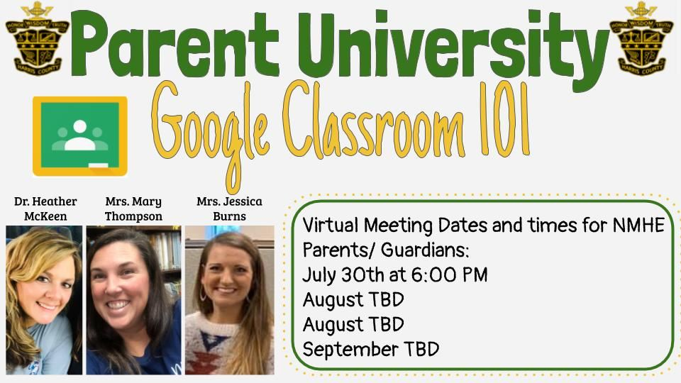 Google Classroom Parent University