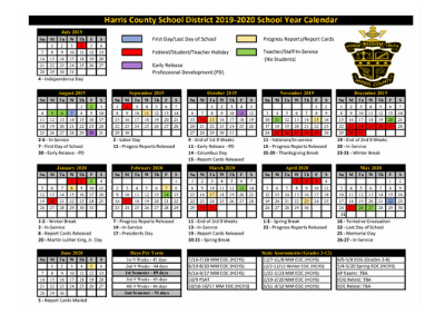 2019-2020 District Calendar