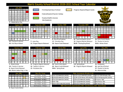 UPDATED 20 -21 District Calendar