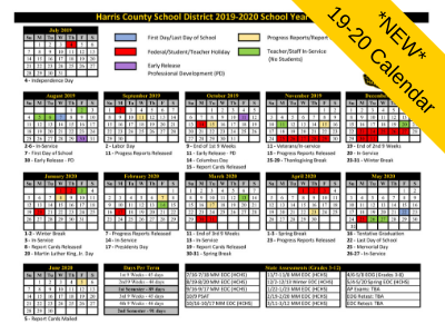 *NEW* 2019-2020 District Calendar